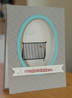 Little Bay Stampin': Start-to-Finish Sunday #15 - Gender Neutral Baby Card with Window - featuring Stampin' Up! #stampinup