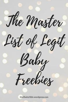 The Master List of Legit Baby Freebies – The Baby Life Get Free Stuff, Free Baby Stuff, Babies Stuff, Free Kids Stuff, Free Baby Items, Free Baby Samples, Baby Freebies, Pregnancy Freebies, Free Diapers