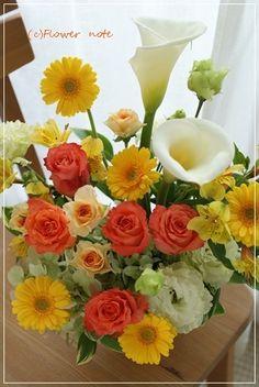 『【今日の贈花】お誕生日に人気のお色』http://ameblo.jp/flower-note/entry-11859135190.html
