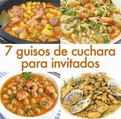 7 guisos de cuchara para invitados Tasty Dishes, Food Dishes, Mexican Food Recipes, Ethnic Recipes, Cooking Recipes, Healthy Recipes, Small Meals, Happy Foods, Mediterranean Recipes