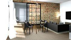 Interior architecture project visualization design barn doors