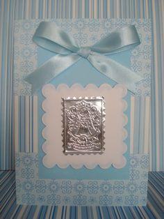 Stamping Paper: Invitaciones de Bautizo niño