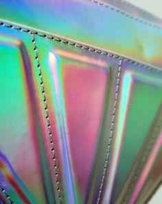Motel Diamond Shoulder Bag in Iridescent (detail).