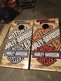 Harley Davidson Cornhole Board Bag game set | rumbleon.com | #rumbleON #ready2rumble #gifts #men #giftsformen #motorcycle #harley