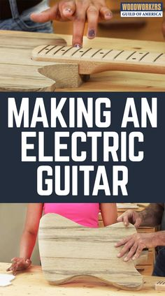 MAKING AN ELECTRIC GUITAR: PART 1 Watch this woodworking video with tips on making an electric guitar. Part 1 includes a discussion on getting started and how to choose a design. Custom Acoustic Guitars, Acoustic Guitar Case, Music Guitar, Diy Guitar Pedal, Electric Guitar Kits, Cardboard Guitar, Broken Guitar, Cigar Box Guitar Plans, Build Your Own Guitar