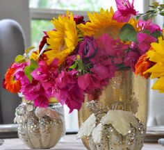 Summer to Fall Floral Arrangement for a Casual Evening - Decor Gold Designs
