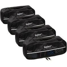 4b622e2ce0 Baglane Packing Cube Bags TechLife Nylon Travel Luggage 4pc Set Black XS     Details can