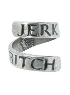 Supernatural Jerk Bitch Wrap Ring   Hot Topic