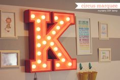 DIY Circus marquee light.