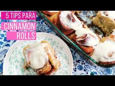 5 Tips para obtener los Cinnamon Rolls perfectos (receta) - YouTube Delicious Desserts, Dessert Recipes, Pan Dulce, Something Sweet, What To Cook, Pecan, Bakery, Easy Meals, Bread
