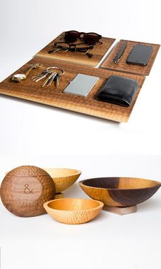 Beautiful all-natural, food-safe finish trays and bowls.