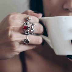 Boho Jewellery by Shop Dixi Winter Coffee, Cosy Winter, Grunge Hippie, Victorian Engagement Rings, Gothic Rings, Rings N Things, Bohemian Jewellery, Black Gold Jewelry, Engraved Rings