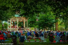 "Friday evening band concert in Public Square, Medina, Ohio  |  A tradition with a long history.  ""Friday On The Square"" by Ron Neiger"