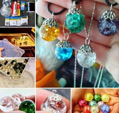 Cracked Marble Pendants jewelry diy craft crafts diy crafts do it yourself diy projects pendants diy and crafts