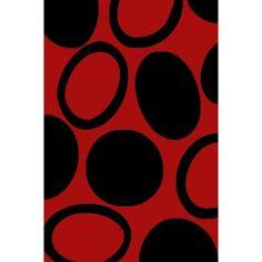 Χαλιά Frieze  Σετ Κρεβατοκάμαρας 3τμχ G70-6 Red-Black  FLORANCE