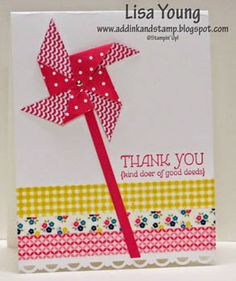 Add Ink and Stamp: A Pinwheel Thank You plus Washi tape