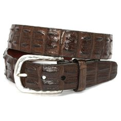 Hornback Crocodile Brown 35mm Belt