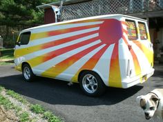 "I LUV old vans... 67 Chevy ""Van of the Rising Sun"""