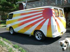 "I LUV old vans... 67 Chevy ""Van of the Rising Sun"""
