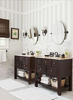 Bathroom Striped Walls Design, Pictures, Remodel, Decor and Ideas - page 6