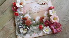 rød konfirmasjon I Card, Floral Wreath, Wreaths, Home Decor, Homemade Home Decor, Door Wreaths, Deco Mesh Wreaths, Garlands, Floral Arrangements