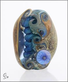 Oceans Window - Lampwork Glass Focal Bead by Photography by Clare Scott, via Flickr