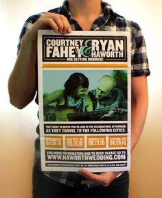 Save The Date idea. I like the concert poster idea