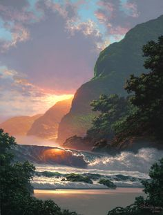 Roy Tabora is a Hawaiian landscape artist who I met on vacay. All of his work is amazing!