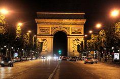 Champs de Elysee and Arc de Triomphe, Paris