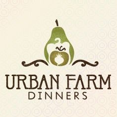 A clever use of negative space for urban farming and dining. Simplistic vegetable shapes create a layered group of produce found at farmer's markets.    Is a great brand for an organic urban gardening blog or restaurant. Perhaps a farmer's market, vegan dining reviewer, or sustainability, farm-to-city association.