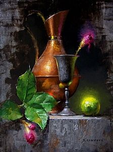 Lime and Blossom by David Cheifetz Oil ~ 12 x 9