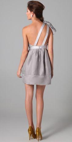 Thread Organza One Shoulder Dress | SHOPBOP