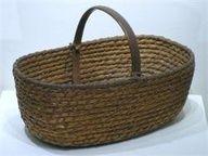 really large rye straw market basket - love!