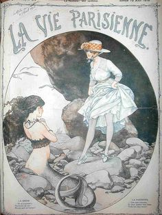 Mermaid Magazine cover La Vie Parisienne, 1918