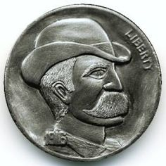 Cliff Kraft Hobo Nickel, Coin Collecting, Moustache, Cliff, Buffalo, Classic Style, Cactus, Carving, Scrapbook