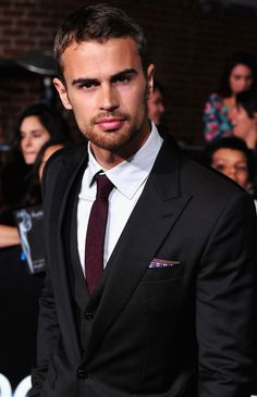 Theo James~ can't breathe his stare is too intense