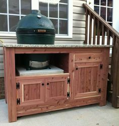 large big green egg table design ideas