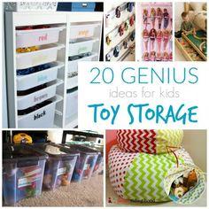 20 Genius Ideas for Kids Toy Storage