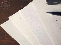 DIY: Briefpapier gestalten mit Siebtechnik