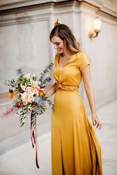 41ccdd077a 17 Best lemon bridesmaid dresses images