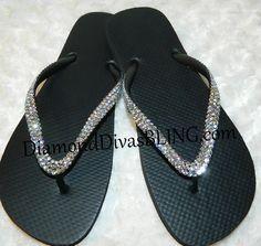 black rhinestone sandals www.DiamondDivasBLING.com ♥ LIKE ♥ our page today! ♥ www.facebook.com/DiamondDivasBLING ♥ Rhinestone Sandals, Black Rhinestone, 3 Shop, Flip Flops, Bling, Facebook, Shopping, Shoes, Fashion