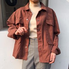 Gingham trousers a pastel denim jacket and turtle neck jumper, this retro inspired autumn winter outfit is well over due a comeback this year.