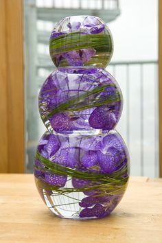 submerged flower centerpieces | Tiered Vase Arrangement - Angel Flowers - London Florist in Islington