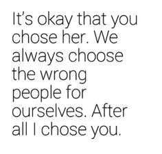 Wrong choice but a lesson learned