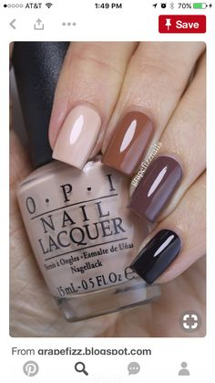 The advantage of the gel is that it allows you to enjoy your French manicure for a long time. There are four different ways to make a French manicure on gel nails. The choice depends on the experience of the nail stylist… Continue Reading → Trendy Nails, Cute Nails, Stylish Nails, Nail Lacquer, Brown Nails, Brown Nail Polish, Burgundy Nails, Nail Swag, Opi Nails