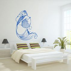 Wall decal decor decals art mermaid  girl  fish by DecorWallDecals, $28.99