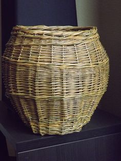 Laundry Basket, Wicker, Vase, Diy, Home Decor, Decoration Home, Bricolage, Room Decor, Do It Yourself