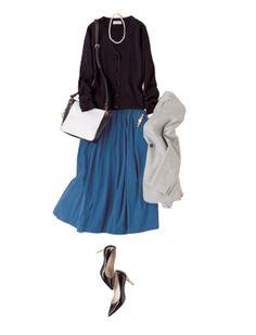 銀座の割烹へ招待されてちょっと緊張...。爽やかなブルーのスカートならどんなお店でも安心。 着用アイテム ジャケット¥32,000(ノーブル スピック&スパン 六本木ヒルズ店) カーディガン¥33,000(ミューズ ドゥ ドゥーズィエム クラス 表参道店〈ドゥーズィエム クラス〉) スカート¥14,000(ジャーナル スタンダード 新宿店〈ジャーナル スタンダード〉) バッグ¥64,000(ルージュ・ヴィフ ラクレ ルミネ新宿店〈ラーエル〉) 靴¥63,000(バーニーズ ニューヨーク〈バーニーズ ニューヨーク〉) ネックレス¥4,200(ミラ オーウェン ルミネ新宿2店〈ミラ オーウェン〉) 時計¥100,000(ヴァンドーム青山プルミエール 伊勢丹新宿店〈ヴァンドーム青山〉) ※商品はすでに売り切れている可能性があります。あらかじめご了承ください。 Oggi2016年10月号掲載 モデル着用の商品詳細は本誌でチェック! >> Oggiのご購入はこちら