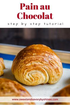 #ad You can achieve bakery-style, authentic pain au chocolat (chocolate croissants) from scratch. I'm sharing my easy-to-follow directions and tips for success! You'll get crisp flaky on the outside, soft and buttery on the inside croissants with perfect amount of intense chocolate in every bite! Homemade croissant dough is made with @Redstaryeast #painauchocolat #homemadechocolatecroissant #croissant