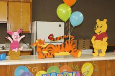 Winnie the Pooh Food Decorations   Life size Winnie the Pooh, Piglet, & Tigger   party ideas